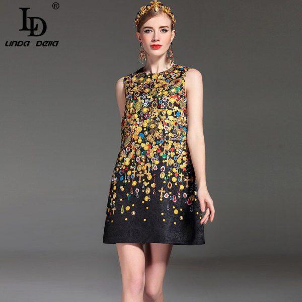 High Quality Fashion Designer Runway Summer Dress