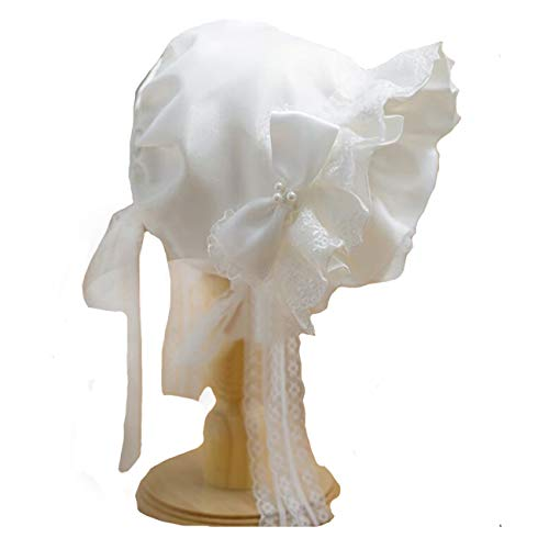 Beautiful White Hand Smocked Bonnet for Baby Girl