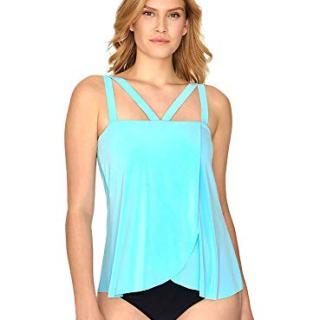 Magicsuit Women's Swimwear Solid Michelle Square Neckline