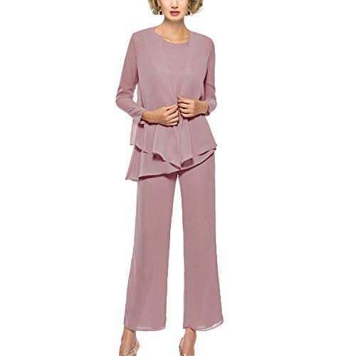 Mother of The Bride Pant Suits 3 Piece Outfits Formal Womens