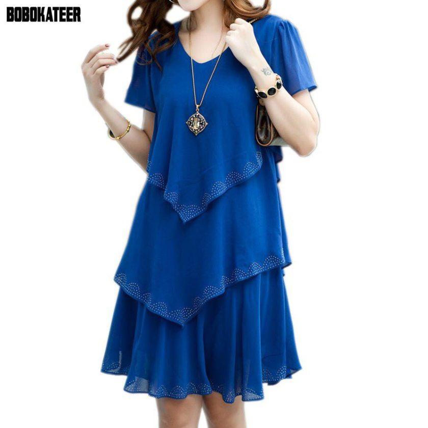 BOBOKATEER Summer Dress Blue Party Dresses Women