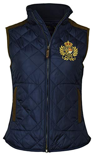 Polo Ralph Lauren Women's Leather Trimmed Quilted Crest Logo