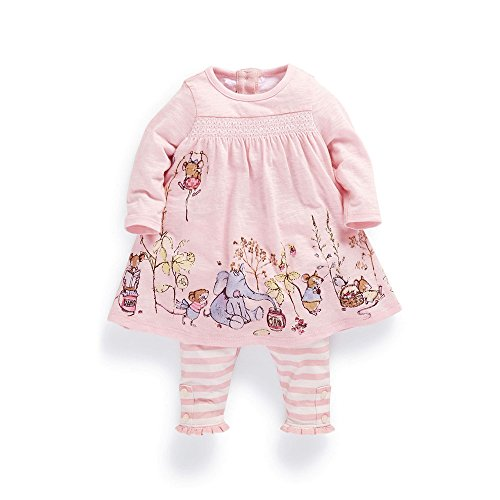 FERENYI Baby Girls Summer Clothes Cartoon Long-Sleeved Dress