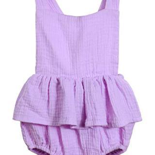 Oklady Infant Newborn Baby Girl Romper Ruffle Cotton Flutter Sleeve