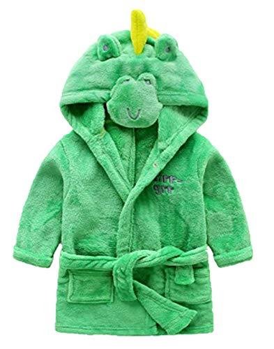 Little Boys Girls Bathrobes,Toddler Kids Cartoon Hooded Plush Robe