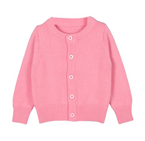 Taiycyxgan Baby Girls Boys Knits Cardigan Sweater Crew Neck Button