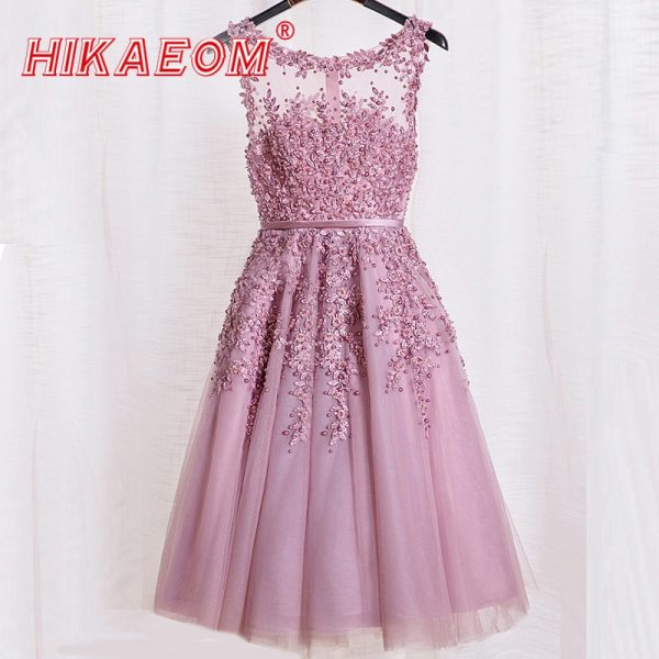 18 Evening New Lace Dress Sleeveless Mini Formal Dresses