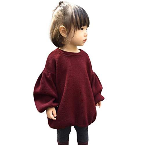 GRNSHTS Baby Girls Loose Long Lantern Sleeve Knit Sweater