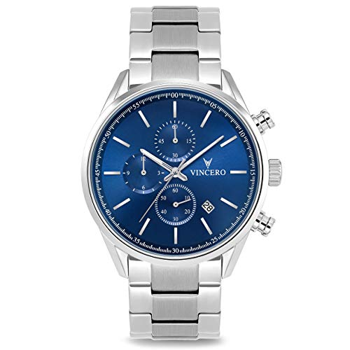 Vincero Luxury Men's Chrono S Wrist Watch - Stainless Steel Band