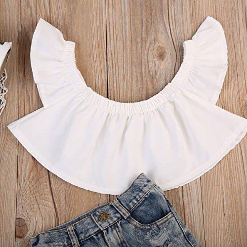 babfcfbf8af7 ... Off Shoulder Blouse Top+Destroyed Ripped Jeans. Home Shop Baby Baby  Girls Clothing ...