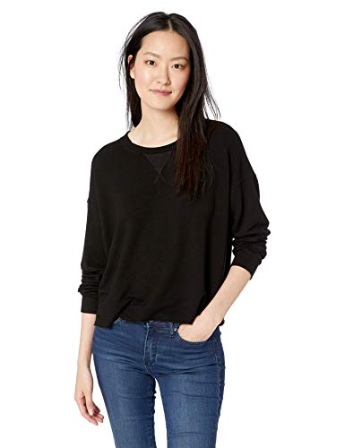 Splendid Women's Pullover Sweatshirt, Black, M