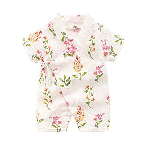 PAUBOLI Kimono Robe Newborn Cotton Yarn Robe Baby Romper