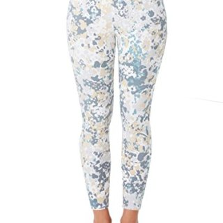 SPANX Ankle Jeanish Leggins Blue Abstract Floral