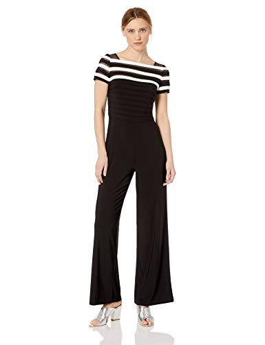 Adrianna Papell Women's Jrsy Colorblocked Banded