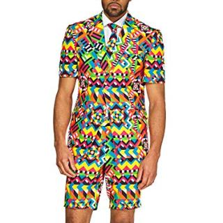 OppoSuits Men's Summer Suit - Abstractive - Includes Shorts