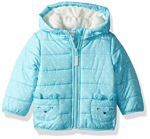 Carter's Baby Girls Fleece Lined Critter Puffer Jacket Coat