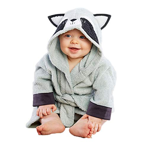 Kids Animal Cartoon Pajamas Cosplay Hoody Bathrobe