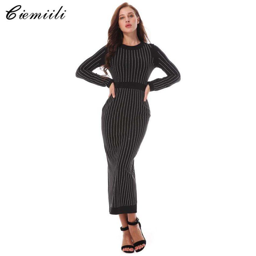 CIEMIILI 18 New Summer Dress Knitting Cotton Dress