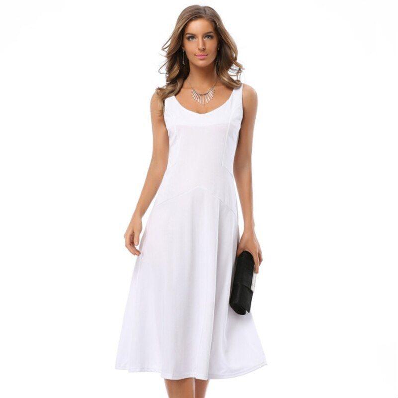 Sexy Elegant Flare Dress Vintage New Summer Dress
