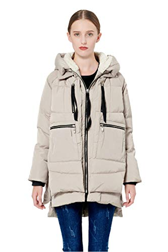 Orolay Women's Thickened Down Jacket Beige XL