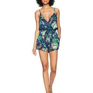 Lucky Brand Women's V-Neck Romper Cover-Up Dress