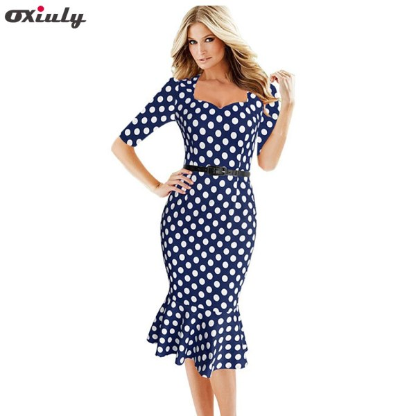 Oxiuly Womens Summer Dresses Vintage Robe Pin Up Swing