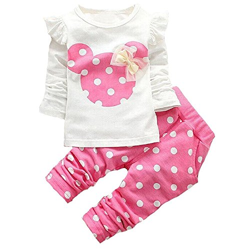 Baby Girl Clothes Infant Outfits Set 2 Pieces Long Sleeved Tops
