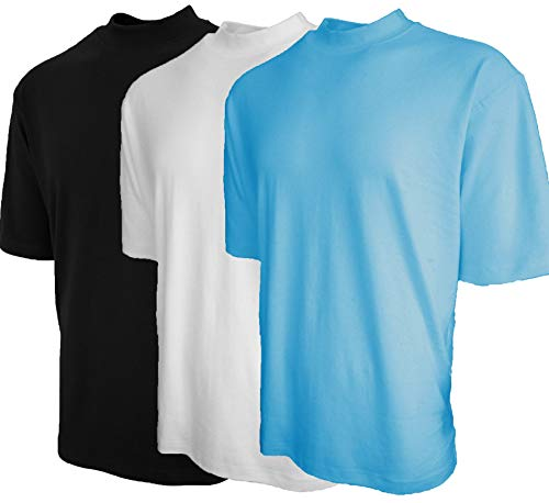 Good Life Mock Turtleneck Shirt 100% Cotton Short Sleeve