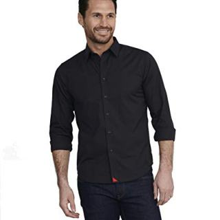 UNTUCKit Carter with Red - Men's Button Down Shirt Long Sleeve