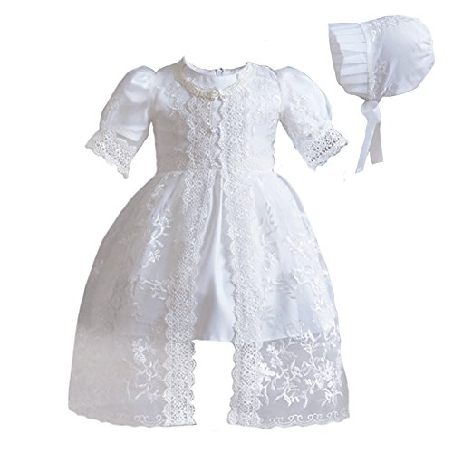 Romping House Newborn Baby Girls 3Pcs Organza Lace-Overlay