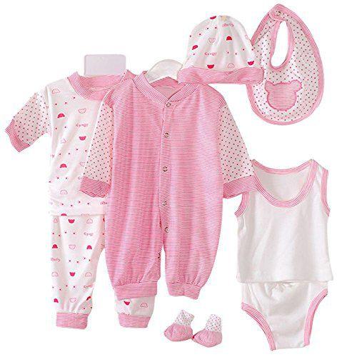 8PCS Cotton Newborn Baby Clothes Clothing Set