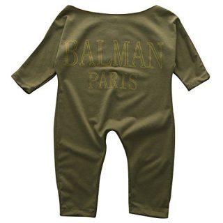 Newborn Infant Baby Girls Clothes Long Sleeve Off Shoulder Romper Jumpsuit