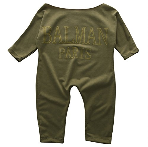 Newborn Infant Baby Girls Clothes Long Sleeve Off Shoulder Romper Jumpsuit