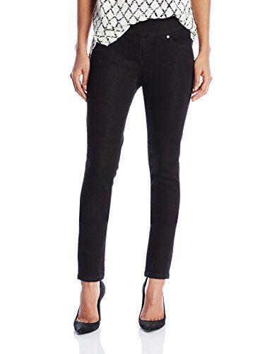 Jag Jeans Women's Nora Skinny Pull on Jean, Black Rinse Knit