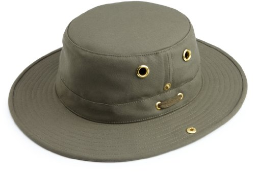 Tilley Endurables T3 Traditional Canvas Hat,Olive,7.5