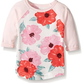 Carter's Baby Girls' Knit Fashion Top, Pink Floral, 3 Months