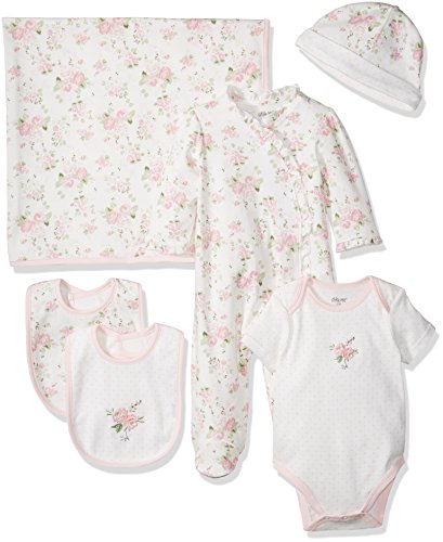 Little Me Baby Girls' Newborn Essentials Gift Set, Pink Floral 3 Months