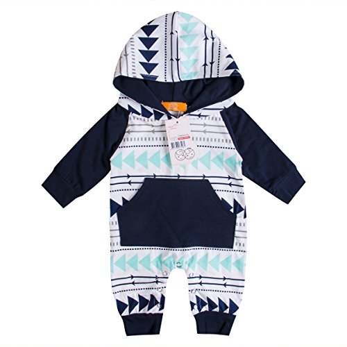 Emmababy Baby Boys Girls Jumpsuit Hoodie Romper Outfit Long Sleeve