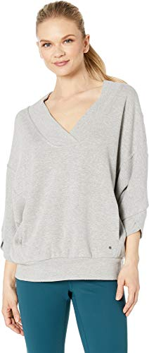 prAna Women's Cozy Up Pullover Heather Grey Medium