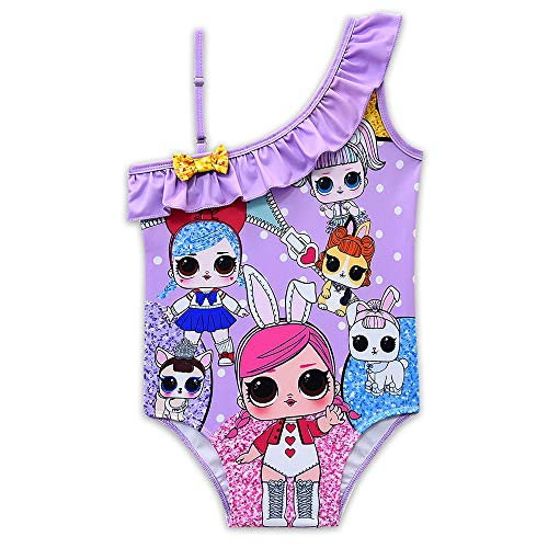 Rohero Toddler Baby Girls Swimsuits One-Piece Doll Print