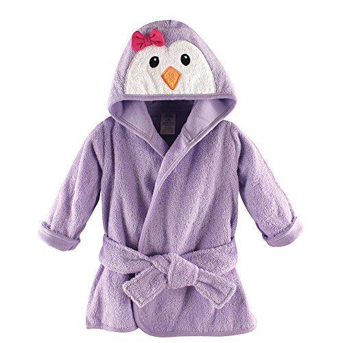 Luvable Friends Animal Face Hooded Bath Robe