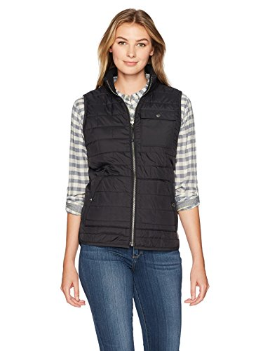 Carhartt Women's Amoret Flannel Lined Vest, Black, L
