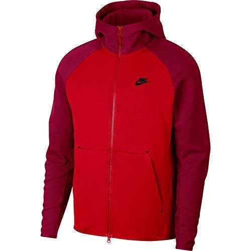 Nike Mens Tech Fleece Full Zip Hoodie Sweatshirt University