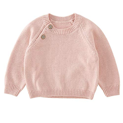 pureborn Baby Boys Girls O-Neck Solid Toddler Children Sweaters