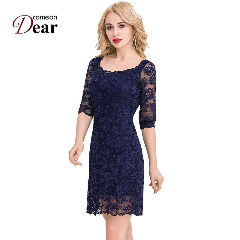 VJ1046 Comeondear Plus Size Women Clothing 3/4 Sleeve