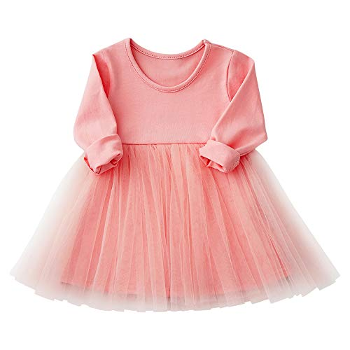 Yinqusiting Baby Girls Black Dress Tutu Long Sleeves Ruffle Tulle