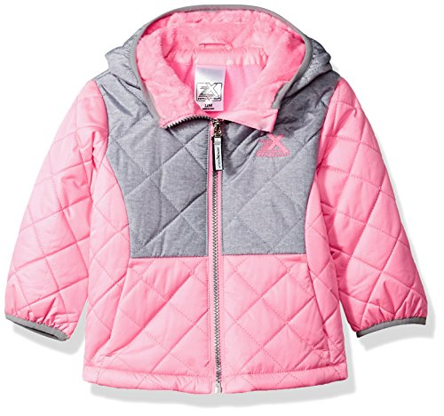 ZeroXposur Baby Girls Infant Lydia Quilted Transitional Jacket