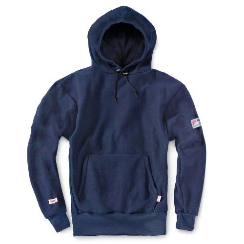 Tyndale Pullover FR Hooded Sweatshirt Large-Long Navy Blue