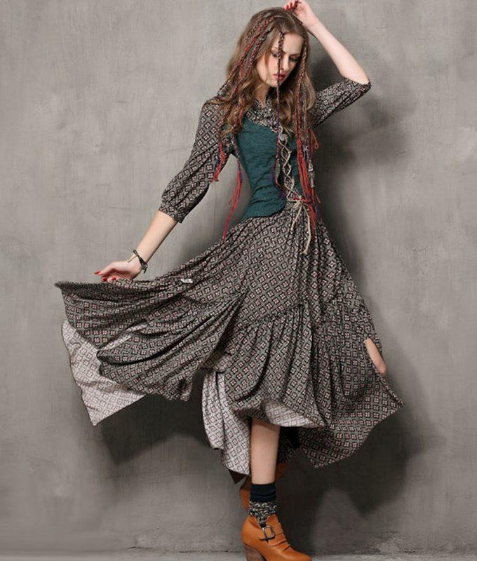 Tube Top Shaper Faxu 2 PCS Print Dress Women High Waist
