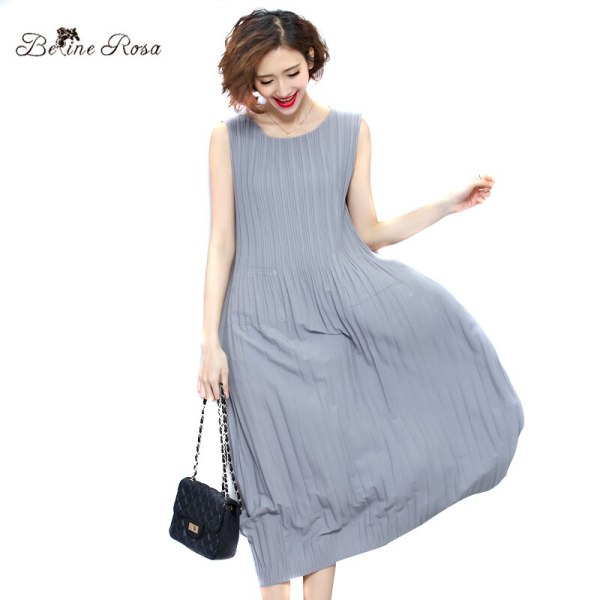 BelineRosa Women's Summer Dresses Pure Color Casual